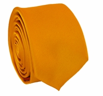Solid Orange SLIM Necktie . 2.25' wide (Q3000-Y)