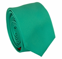 Solid Paris Green SLIM Necktie . 2.25' wide (Q3000-TT)