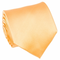 Solid Peach Paul Malone Silk Necktie (851)