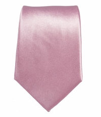 Solid Pink Slim Tie by Paul Malone . 100% Silk