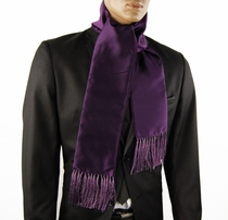 Solid Plum Men's Fashion Scarf (SC100-P)