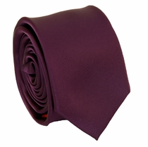 Solid Plum SLIM Necktie . 2.25' wide (Q3000-P)