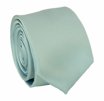 Solid Powder Blue SLIM Necktie . 2.25' wide (Q3000-OO)