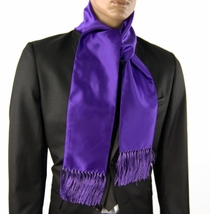 Solid Purple Men's Scarf (SC100-HH)