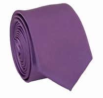 Solid Purple SLIM Necktie . 2.25' wide (Q3000-AA)