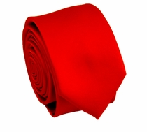 Solid Red SLIM Necktie  . 2.25' wide (Q3000-O)