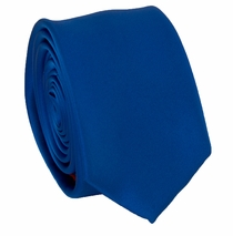 Solid Royal Blue SLIM Necktie . 2.25' wide (Q3000-EE)