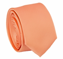 Solid Salmon SLIM Necktie . 2.25' wide (Q3000-II)
