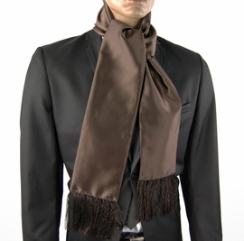Solid Satin Brown Men's Scarf (SC100-N)