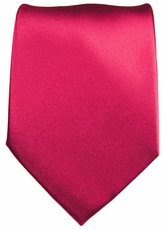Solid Satin Hot Pink Paul Malone Silk Tie (505)