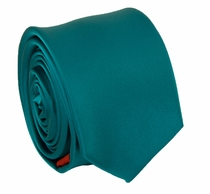 Solid Sea Green SLIM Necktie . 2.25' wide (Q3000-BB)