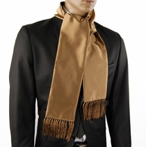 Solid Tan Men's Fashion Scarf (SC100-T)