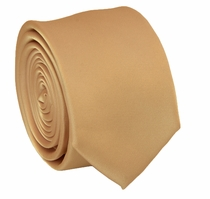 Solid Tan SLIM Necktie . 2.25' wide (Q3000-T)