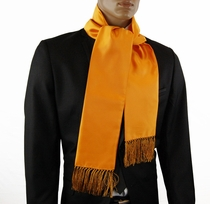 Solid Tangerine Men's Fashion Scarf (SC100-Y)