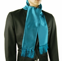 Solid Teal Men's Fashion Scarf (SC100-BB)
