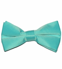 Solid Turquoise Bow Tie (BT10-DD)