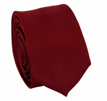 Solid Wine SLIM Necktie . 2.25' wide (Q3000-MM)