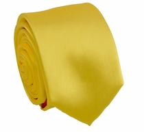 Solid Yellow SLIM Necktie . 2.25' wide (Q3000-J)