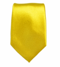 Solid Yellow Slim Silk Tie by Paul Malone
