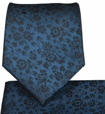 Stargazer Blue Necktie and Pocket Square Set