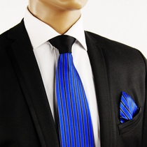 Royal Blue Contrast Knot Silk Tie by Steven Land