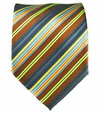 Striped Men' Necktie . Brown