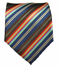 Striped Men's Necktie . Blue