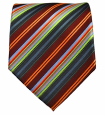 Striped Men's Necktie . Burgundy