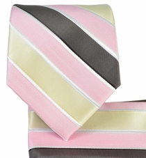 Striped Necktie and Pocket Square Set