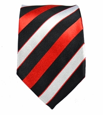 Striped Slim Tie by Paul Malone . 100% Silk
