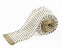Tan and Off-White Knit Tie by Paul Malone (KN667)
