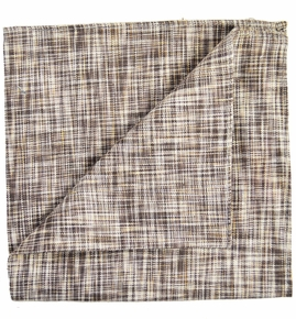 Tan Linen/Cotton Pocket Square by Paul Malone