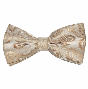 Tan Paisley Bow Tie (BT20-T)