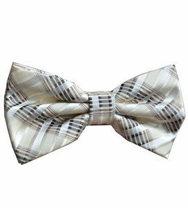 Tan Patterned Bow Tie Set (BT438-i)