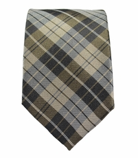 Tan Slim Necktie by Paul Malone . 100% Silk