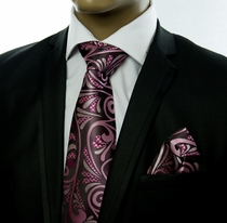 Tie a. Pocket Square Set by Verse 9 . Big Knot . 100% Silk