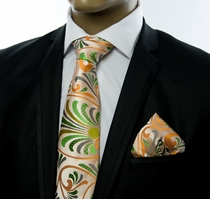 Tie a. Pocket Square Set y Verse9 . Big Knot . 100% Silk