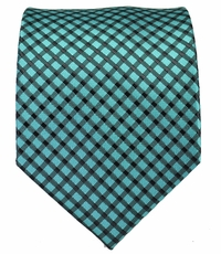 Turquoise and Black Men's Tie