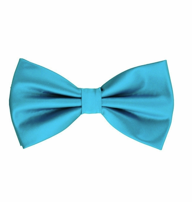 turquoise bow tie and pocket square set bt100 u