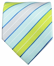 Turquoise, Green and Grey Men's Tie