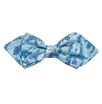 Turquoise Camouflage Silk Bow Tie by Paul Malone Red Line