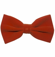 Velvet Bow Tie and Pocket Square . Orange