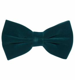 Velvet Bow Tie and Pocket Square . Solid Ivy