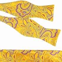 Verse9 Paisley Silk Bow Tie & Pocket Square