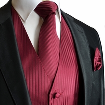 MensTuxedo Vest Set in Burgundy (V71)