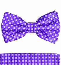 Violet Bow Tie and Pocket Square Set by Paul Malone (BT462H)