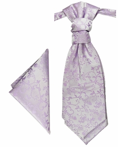 Violet pretied Cravat and Pocket Square by Paul Malone