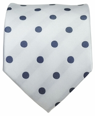White and Grey Dotted Men's Necktie
