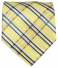 Yellow and Blue Men's Tie