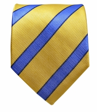 Yellow and Blue Paul Malone Silk Tie (843)